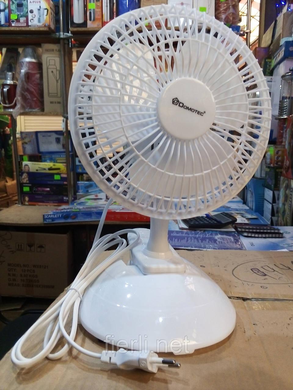 Вентилятор настольный +прищепка Domotec   MS-1623