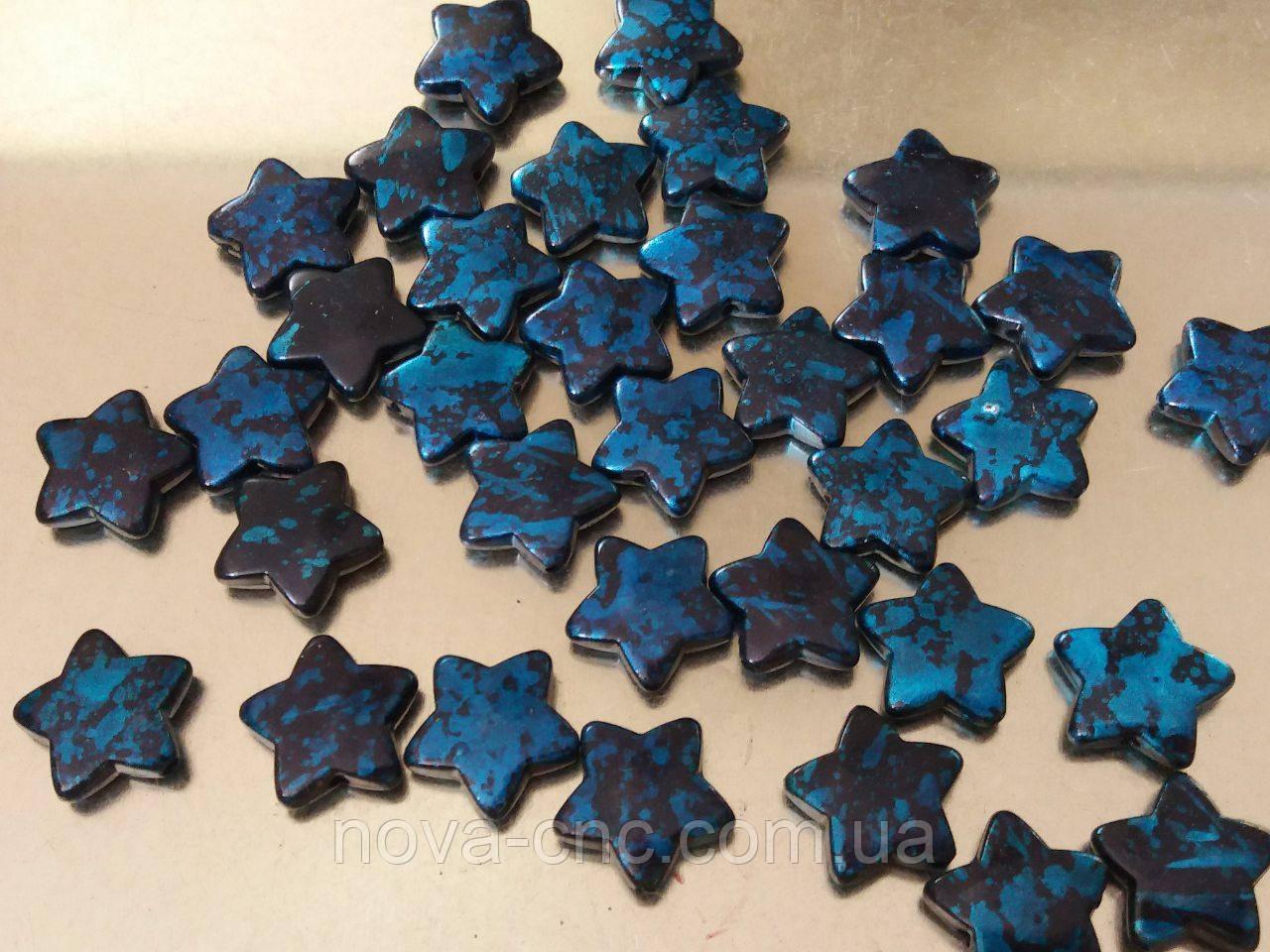 """Намистини """"зірки"""" чорно-синій 500 грам"""