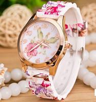 Часы geneva малиновые