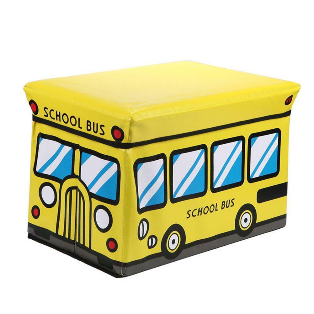 """Ящик-пуф для игрушек """"Школьный автобус"""""""