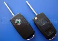 SKODA выкидной ключ (корпус ) 2 - кнопки New (Артикул: F27SK)