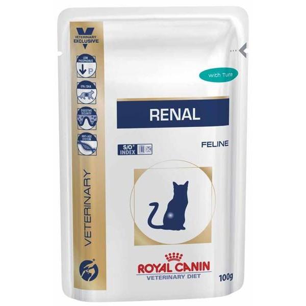 Паучи Royal Canin Renal Feline Tuna 85г (в упаковке 12шт.)