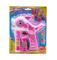 """Музыкальный пистолет, пускающий пузыри """"Дельфинчик"""" (розовый) S680-7"""