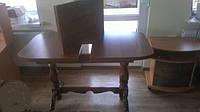 Стол деревянный розкладной 2 ноги , фото 1