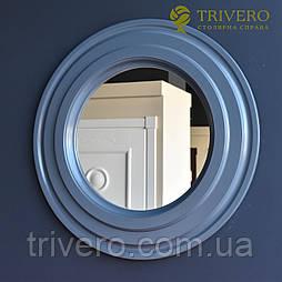 Круглое зеркало в деревянной раме Z-18101