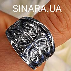 Серебряное мужское кольцо Лилия - Брендовое мужское кольцо Fleur de Lis