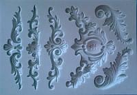 """Молд для полимерной глины и мастики,силикон,размер 14 смх10 см, """"Винтаж"""""""