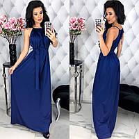 Шикарное женское шёлковое платье в пол размер универсальный, фото 1