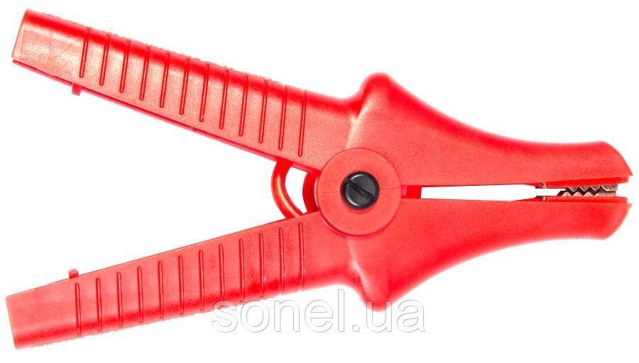 Затискач «Крокодил» ізольований червоний К09 11 кВ