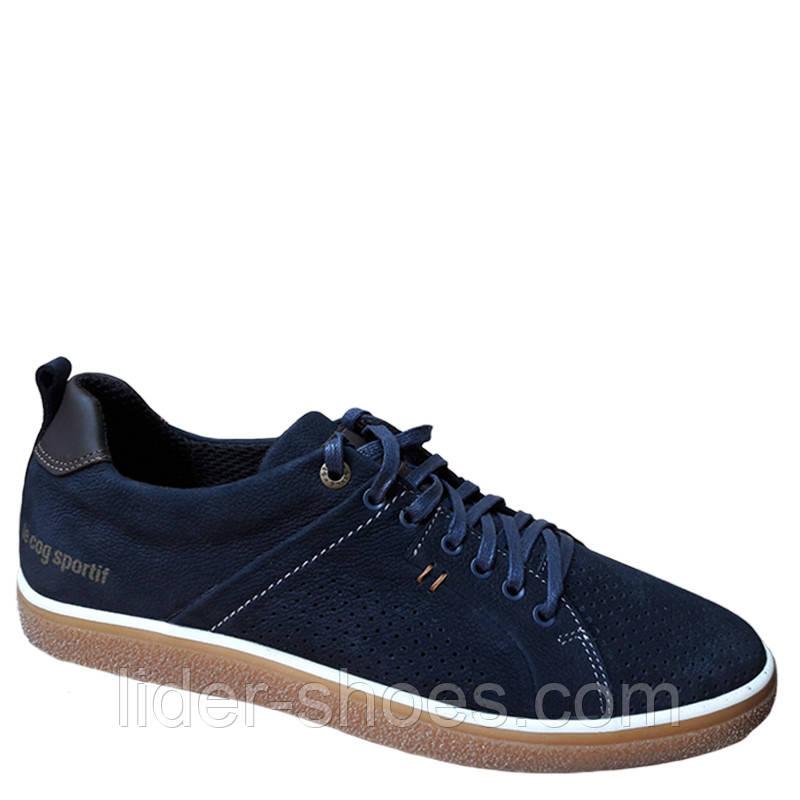 Мужские кроссовки кожаные на шнурках
