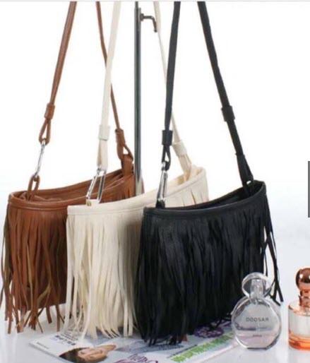 Стильная женская сумка с бахромой