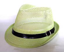 """Шляпа """"Челентанка"""", салатовая сетка (54 см)"""