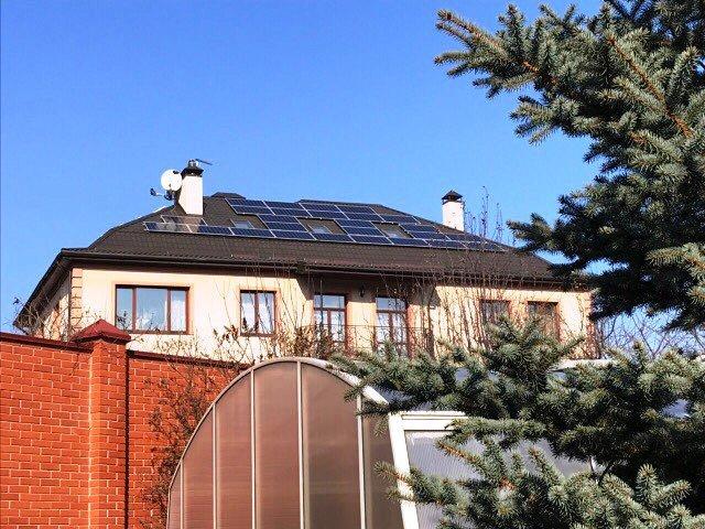 """Киев солнечная электростанция под """"зеленый"""" тариф мощностью 17 кВт Leapton + Fronius Киевская область"""