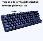 Игровая механическая клавиатура c подсветкой Metoo Zero 87 клавиш!, фото 3