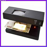 Ультрафиолетовый детектор валют UKC AD-2138, УФ лампа для проверки денег от сети