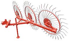Грабли Солнышко на 3 колеса для мототрактора, мотоблока (спица 6мм)