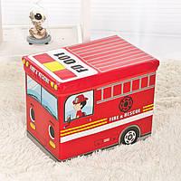 """Ящик-пуф для игрушек """"Пожарная машина"""", фото 1"""
