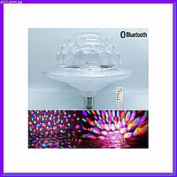 Светодиодный дискошар LED UFO Bluetooth Crystal Magic Ball E27