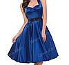 Женственное платье Синее. Атласное.