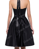 Женственное платье Синее. Атласное., фото 4