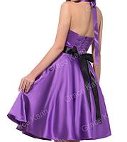 Женственное платье Синее. Атласное., фото 7