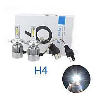 Автомобильные светодиодные Лед LED лампы C6 H4 3800lm 6000K