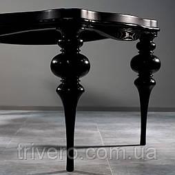 Черные ножки опоры из дерева для стола