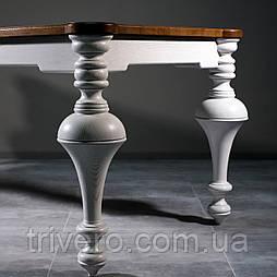 Белые точеные ножки опоры для деревянного стола