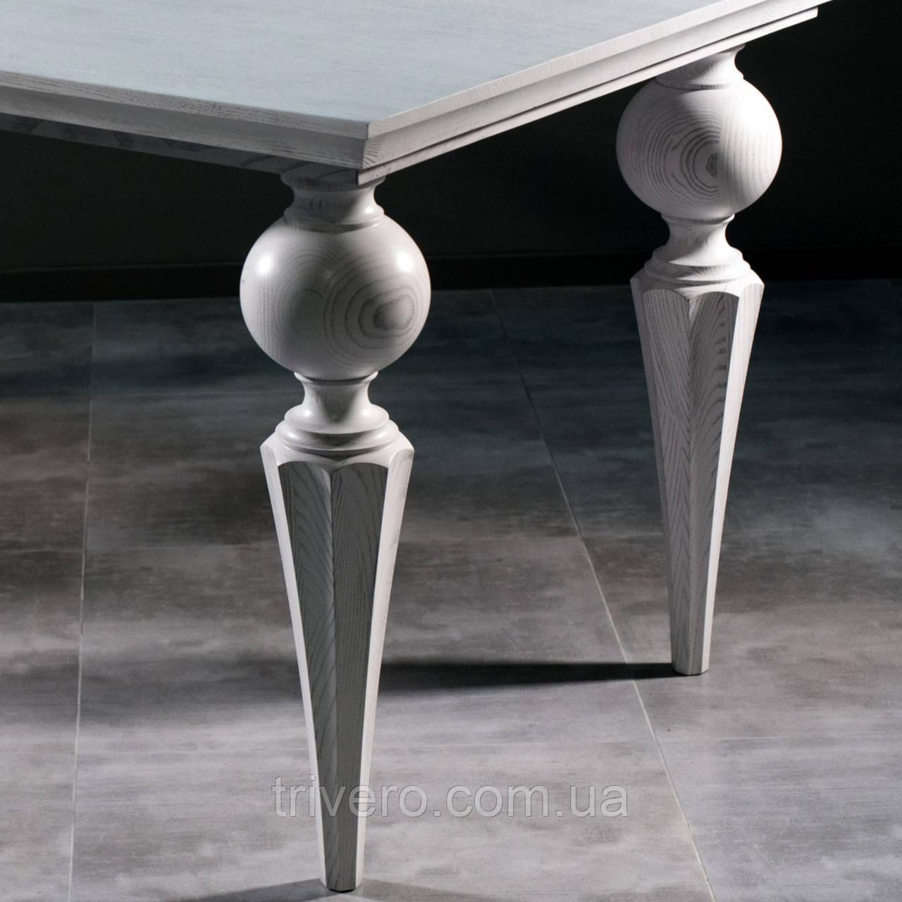 Мебельные ножки и опоры деревянные для стола с гранями H.760 D.180