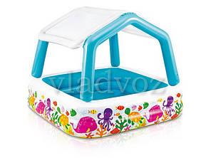 Детский надувной бассейн 57470 intex аквариум с навесом съёмная крыша, фото 2