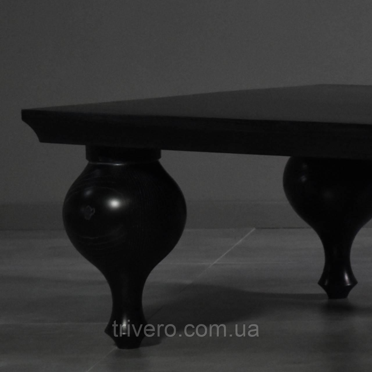 Меблеві ніжки і опори дерев'яні для журнального столика H. 260 D. 160 / Код: Ніжка-45