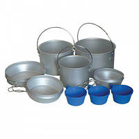 Набор посуды из аллюминия Tramp (2,9+1,9+1,2)л + 3чашки TRC-002 (полный)