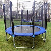 Батут для детей с сеткой и лесенкой 435 см, фото 1