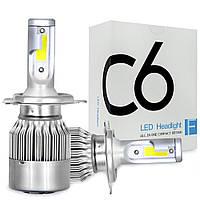 Автомобильные светодиодные Лед LED лампы C6 H3 3800lm 6000K