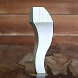 Меблеві ніжки і опори з дерева кабріоль з боковим кріпленням 200 H. D. 70, фото 7