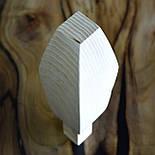 Меблеві ніжки і опори з дерева кабріоль з боковим кріпленням 200 H. D. 70, фото 10
