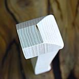 Меблеві ніжки і опори з дерева кабріоль з боковим кріпленням 200 H. D. 70, фото 9