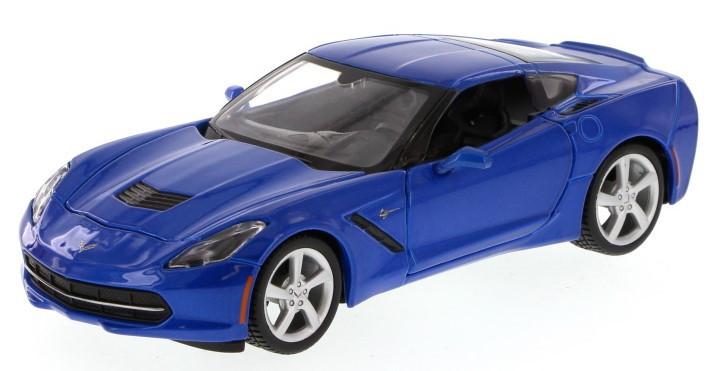 Автомодель Maisto 1:18 2014 Corvette Stingray Cиний (31182 blue)