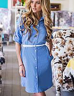Женское платье-рубашка из коттона (Nury sk)