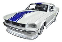 Автомодель (1:24) 1967 Ford Mustang GT білий металік - тюнінг (31094 met. white)