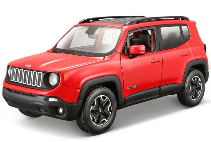 Автомодель Maisto 1:24 Jeep Renegade Красный металлик (31282 met. red)