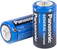 Батарейка Panasonic General R14 С (2шт, трей, 2/24/120)