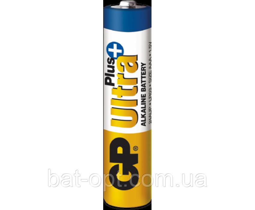 Батарейка щелочная GP 24AUP-S2 Ultra Plus Alkaline LR3 AAA минипальчиковая (трей)