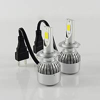 Автомобильные светодиодные Лед LED лампы Headlight  C6 H11 3800lm 6000K