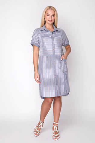 Платье женское летнее, лен, размер: 48-54, фото 2