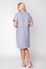 Платье женское летнее, лен, размер: 48-54, фото 3