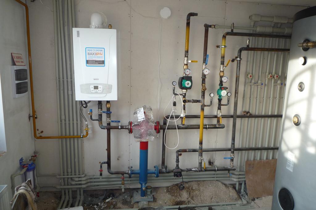 Гарантированный нагрев воды и обогрев помещения выполняет газовый котёл ТМ BAXI