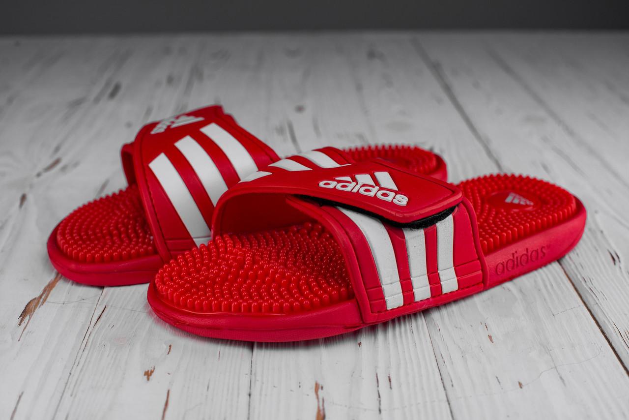 Мужские красные Сланцы Adidas (реплика)