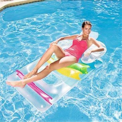 """Надувной матрас """"Кресло на воде"""" Bestway (43011) со спинкой и подлокотниками, 165*89 см"""