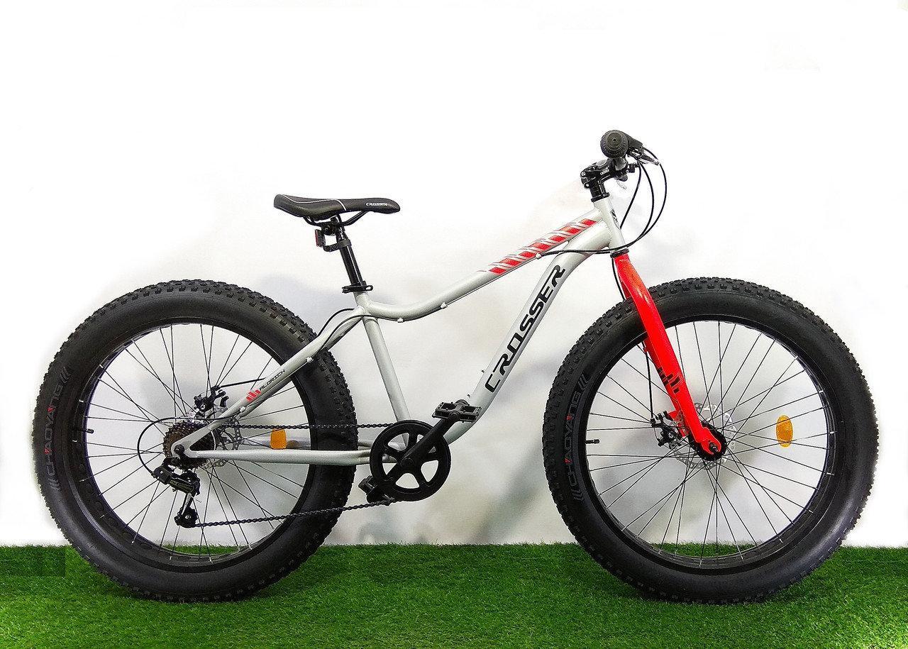 """Велосипед фэтбайк Crosser Fat Bike 26"""" (внедорожник)"""